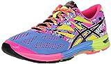 ASICS Women's Gel-Noosa TRI 10 Running Shoe, Powder Blue/Black/Hot Pink, 7.5 M US