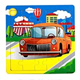 Facial Recognition Os X - DZT1968 1set/20pc Cartoon animal car Wooden Puzzle Educational Developmental Kids Training Toy (h)