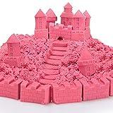 100G Pink Colored Play Sand Can Stack & Build Trim Shape & Sculpt Super Fun