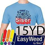 SISER EasyWeed Heat Transfer Vinyl (Heat Press / Iron on) 15'' x 25yd - White