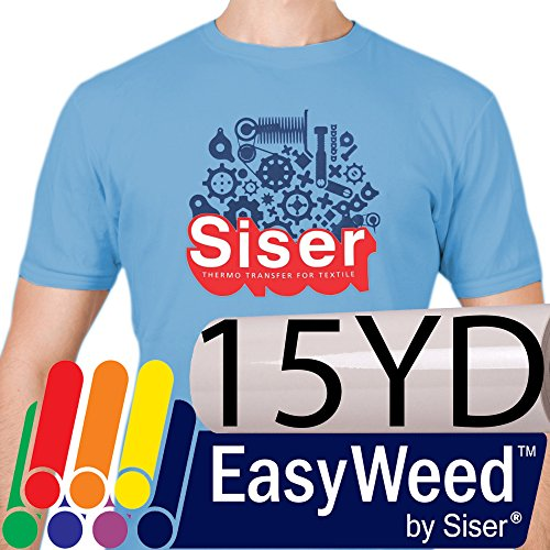 SISER EasyWeed Heat Transfer Vinyl (Heat Press / Iron on) 15'' x 25yd - White by Siser
