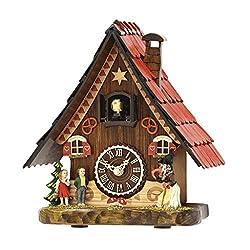 Hermle Hansel & Gretel Tabletop Quartz Cuckoo Clock #65000 Manufactured by Trenkle Uhren