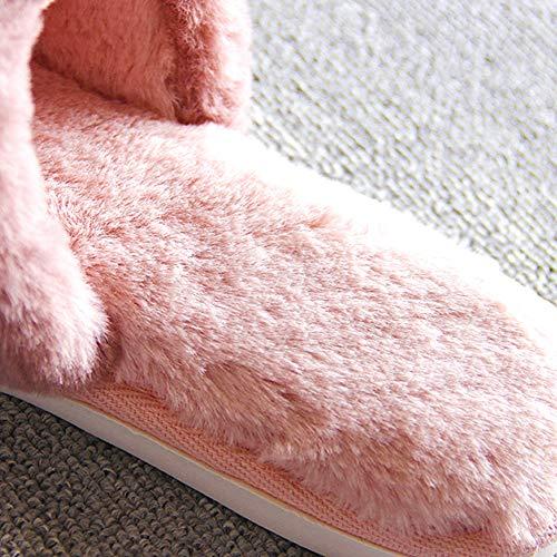 Pelle Antiscivolo Pantofole Da E Fodera Coppia Marrone Casa Sintetica Peluche In Per Chiaro Scarpe All'acqua Resistente Uomo Donna RSrx8RO