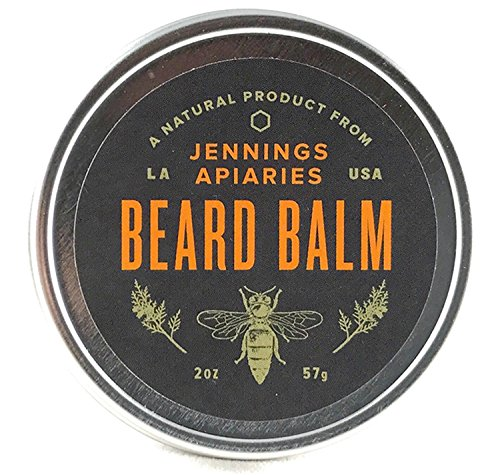 Price comparison product image Beard Balm by Jennings Apiaries - 100% Natural Made With Beeswax - 5% Profits go to Louisiana Bee Sanctuary