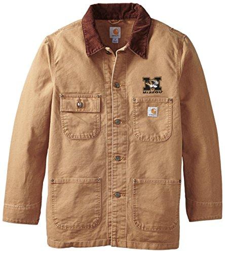 NCAA Missouri Tigers Men's Weathered Chore Coat, Large ()