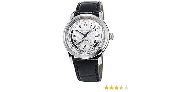 Frederique Constant Manufacture Worldtimer Stainless Steel Mens Watch Calendar FC-718MC4H6