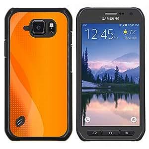 LECELL--Funda protectora / Cubierta / Piel For Samsung Galaxy S6Active Active G890A -- consola de juego de naranja logotipo de sol del verano --