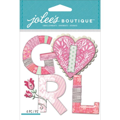 - Jolee's Boutique Dimensional Stickers, Baby Girl Yarn Word