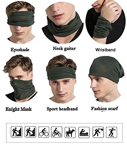 Magic Headbands Men Women Wide Head Wrap Seamless Bandana Scarf UV ... 0a5ff3e555d