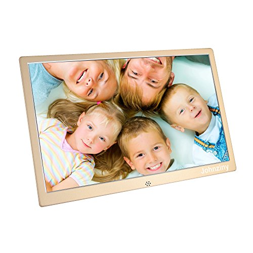 15.4 inch Digital Picture Frame Electronic Photo Frame High Resolution with Remote Control,Play Photo//Music//Video//Calendar//12 Languages,USB//SD//MMC//MS Card Port