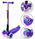ChromeWheels Scooters for Kids, Deluxe Kick Scooter Foldable 4...