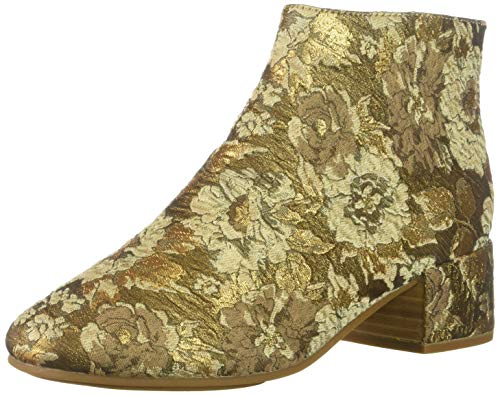 Gentle Souls by Kenneth Cole Women's Ella Low Heel Bootie Boot, gold/multi, 9 M - Heels Multi Gold