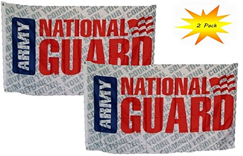 ALBATROS 3 ft x 5 ft 3x5 Set (2 Pack) Army National Guard Letters Flag Banner for Home and Parades, Official Party, All Weather Indoors Outdoors