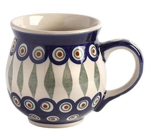 polish-pottery-peacock-feathers-handmade-barrel-mug-16-oz