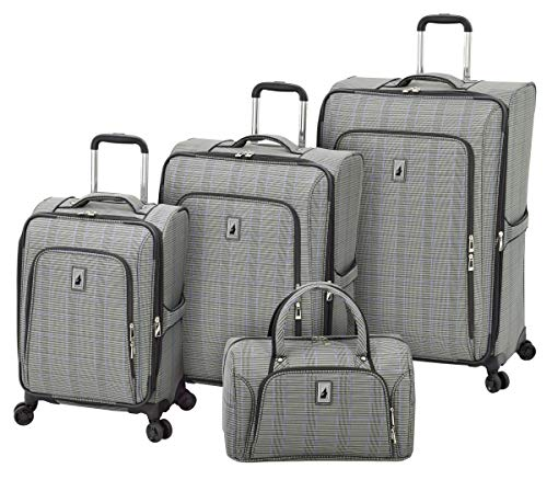 Luggage Sets Plaid (London Fog Knightsbridge II 4 Piece Set, Grey Sapphire Plaid)