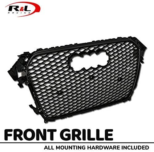 S4 B8.5 Facelift S /& T RACING INC Black Chrome RS-Honeycomb Mesh Front Hood Bumper Grill Grille for 2013-2016 Audi A4