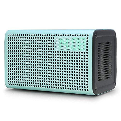 GGMM E3 WiFi Bluetooth Speaker Alexa Built-in Alexa Speaker, Multi Room Play Smart Speaker with LED Clock, Alarm Setting, USB Charging Port, Stereo Sound Airplay Speaker (Best Airplay Alarm Clock)