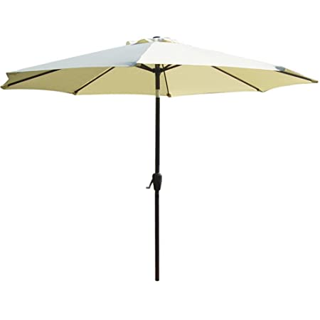 PowerLead Paub B001 Outdoor 9-Feet Aluminum Patio Umbrella with Auto Tilt