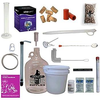 HomeBrewStuff 1 Gallon Table Top Nano-Winery Beginner Equipment Kit with Vineyard Wine Recipe Kit (Italian Pinot Grigio)