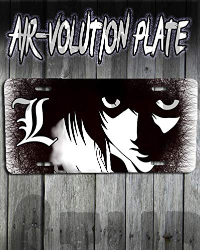 Personalized Airbrush Deathnote L License Plate Tag