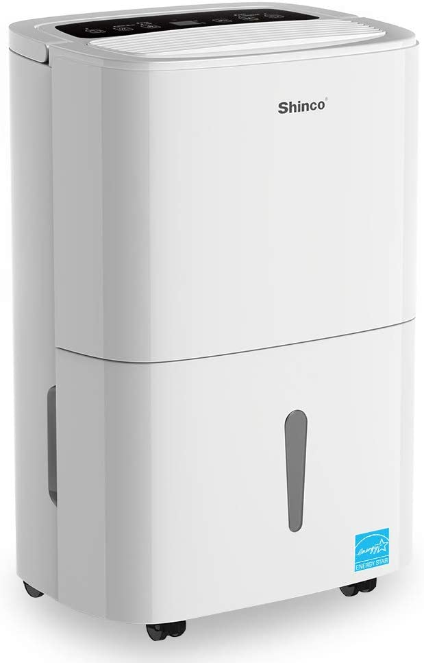 Shinco 30 Pint Energy Star Dehumidifier for Rooms up to 1,500 Sq.Ft, for Medium to Large Spaces – Quietly Remove Moisture and Control Humidity for Home, Basements, Bathroom, Bedroom