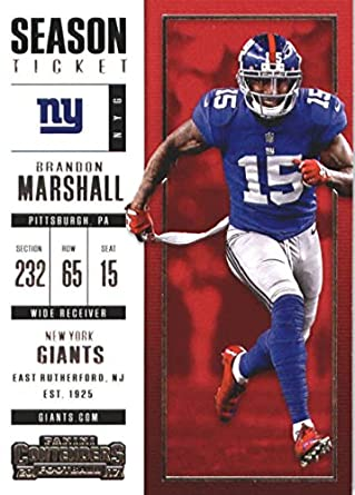 low priced 48bd2 1df17 Amazon.com: Football NFL 2017 Contenders Season Ticket #82 ...