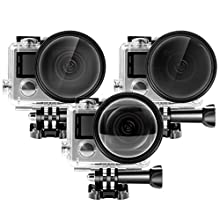 Neewer Underwater Waterproof Camera Housing Case & Filter Kit for Gopro Hero4 and Hero3+ Cameras:(1)Waterproof Housing Case + (1)52MM Adapter Ring+(3)52MM Filters (CPL, ND4, Close-up Macro +10)
