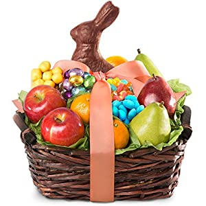 Golden State Fruit Easter Bunny Fruit and Treats Gift Basket