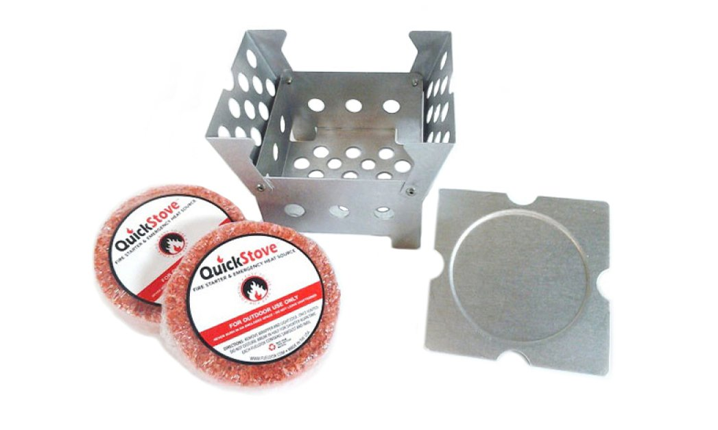 QuickStove QS-01-AS Cube Stove with 2 Fuel Disks