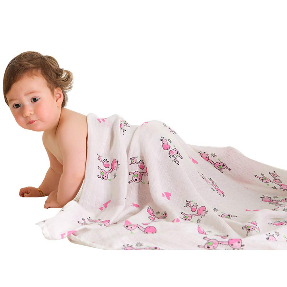 Baby Receiving Blanket Swaddle Blanket Burp Cloth Tummy Stroller Cover DoubleSid