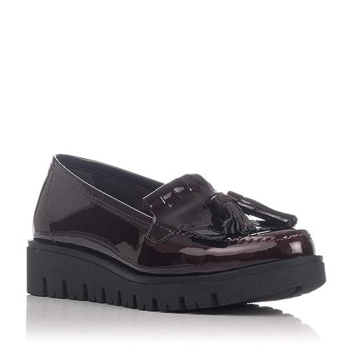 Zapatos Sport Mocasines Burdeos Mocasín con Borlas 77189 | Zapp: Amazon.es: Zapatos y complementos
