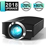 GooDee Mini Projector, 2018 Upgraded +80% lumens Video Projector Compatible with Fire TV Stick, HDMI, VGA, USB for Home Cinema Theater Movie Projector