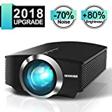 Video Projector, GooDee Mini Projector 2018 (Upgraded Version) +80% lumens LED Portable Projector with HDMI, Movie Projector with 130'' Compatible with Fire TV Stick, VGA, USB for Home Theater Movie