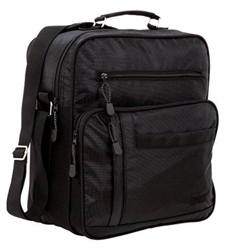ELEPHANT Flugumhänger MAILAND Arbeitstasche Reisetasche Tasche + Etui (Schwarz)