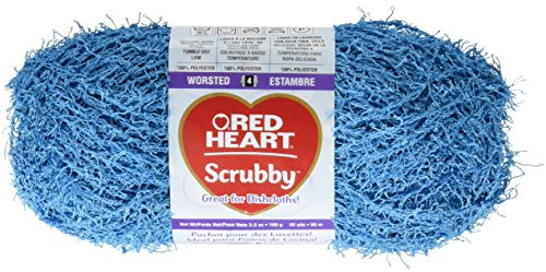 RED HEART Scrubby E833 Yarn, Ocean
