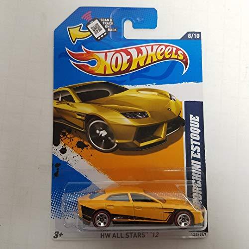 (Lamborghini Estoque 2012 All Stars Hot Wheels 1/64 Scale diecast car no. 128)
