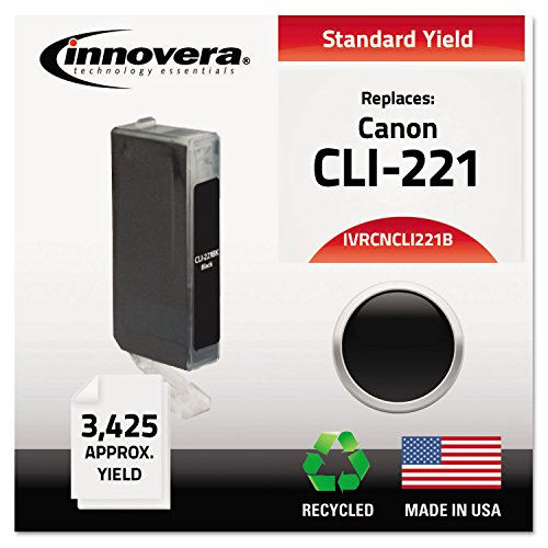 Innovera CNCLI221B Remanufactured 2946B001 (CLI-221) Ink, Black