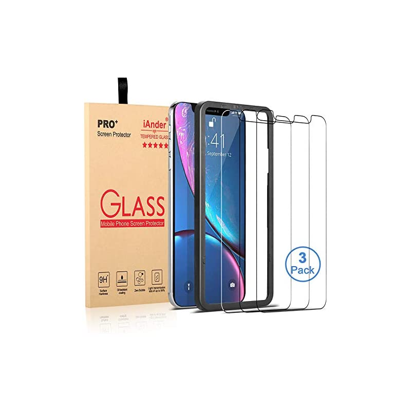 [3-PACK] iAnder for iPhone XR Screen Pro