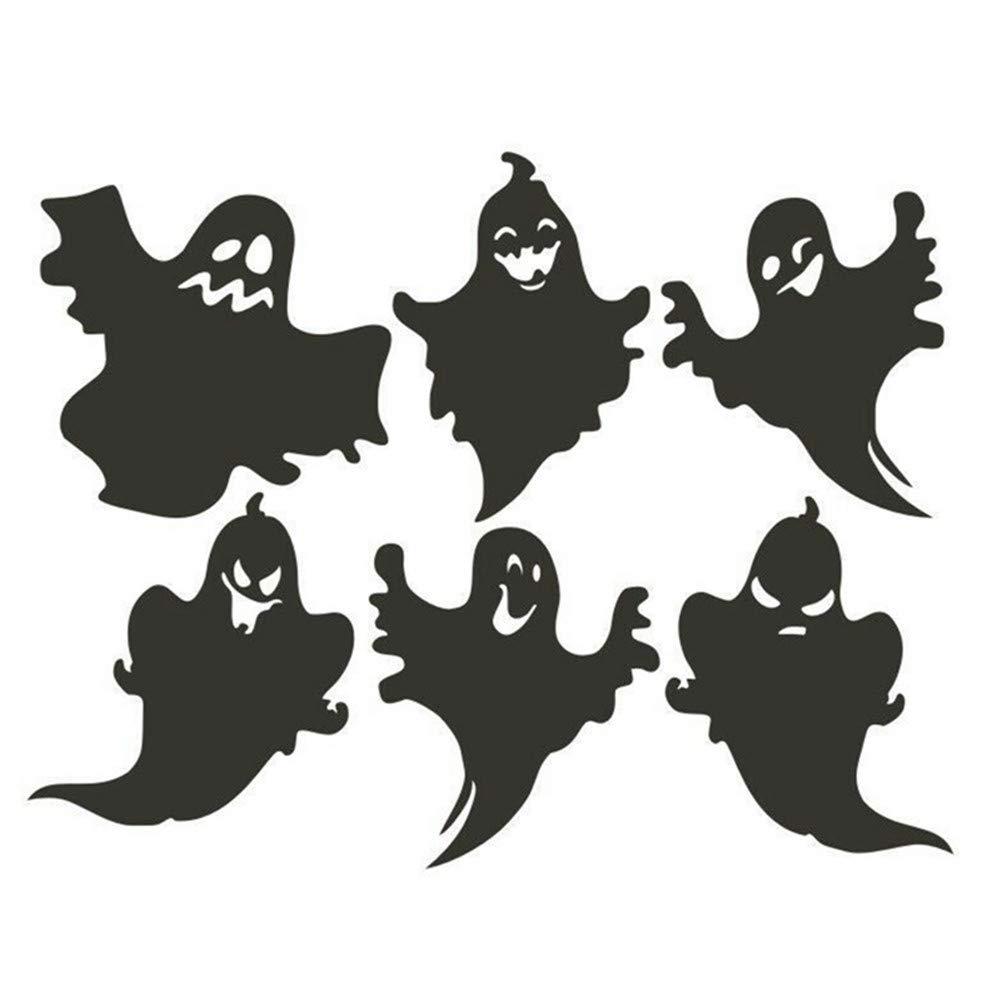 Ga-yinuo Vinilo Removible 3D Pegatinas De Pared Fantasma De Halloween Negro Gatos Decoración De Murciélago Calcomanías para Paredes De Halloween Decoración ...
