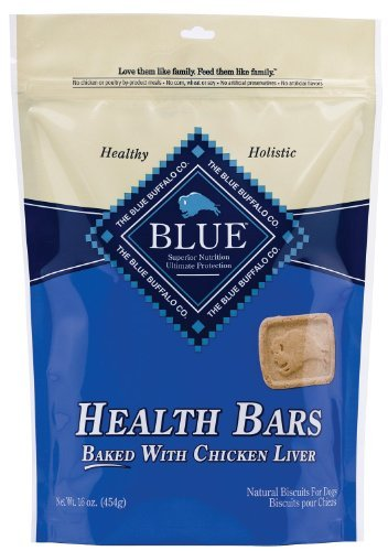 Blue Buffalo Health Bars Dog Pet - All Flavors - Made in USA - All Natural - 1 Pound Bag (Chicken (Dog Treats Three Bars)