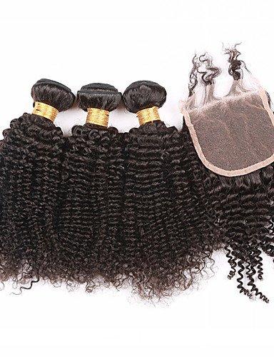 Lacets Jff Faisceaux Lot 12 Avec Crépus De Fermeture Pcs Des Fermeture Cheveux 4 À Bouclés 7a amp; 12 Trame Grade Part Humains Meilleurs 3 ZFZrwYq