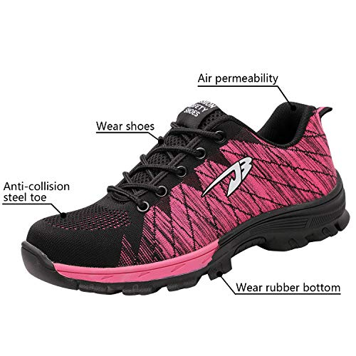 Steel Shoes Toe Shoes Safety Pink Shoes Optimal Work Men's YUXqX