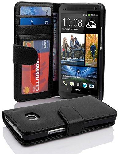a16690951ac Cadorabo Funda Libro para HTC ONE M7 (1. Gen.) en NEGRO ÓXIDO: Amazon.es:  Electrónica