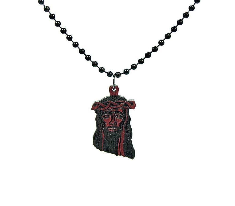 GoodWood NYC Micro Jesus Necklace Purple