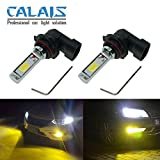9006 fog lights - Calais Extremely Bright LED 9006 HB4 COB Chips Yellow 30W Fog Light Bulbs Plug-n-Play(pack of 2)