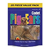 Cadet Natural Pig Ears, 25 Count