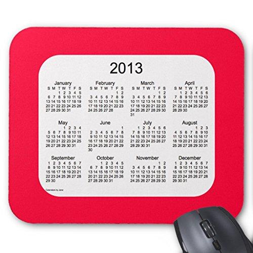 Zazzle 2013 Calendar Mouse Pad -