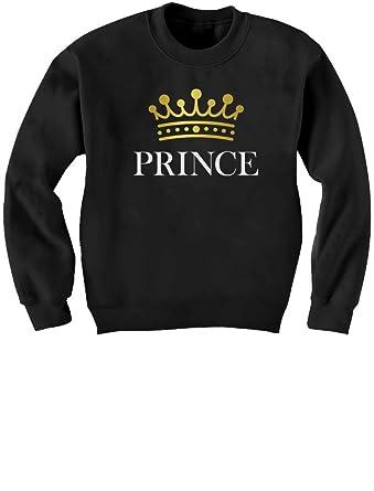81c565e5 Green Turtle T-Shirts Prince Crown Gift for Son Grandson Fun Cute Birthday  Gift for Boys Kids Sweatshirt: Amazon.co.uk: Clothing