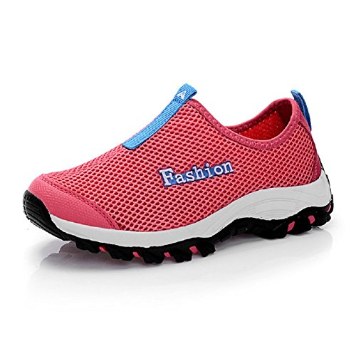 Peach Mesh Red Unisex Ons Slip Running Shoes Kunsto Adults' q7O1R