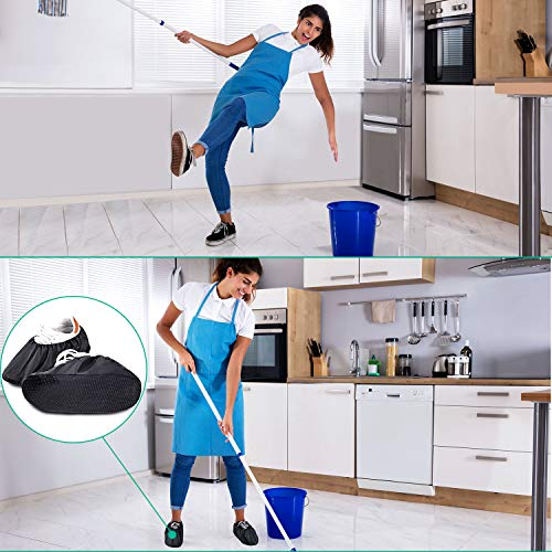8 Pairs Non Slip Reusable Shoe Covers Waterproof Boot Covers for Household
